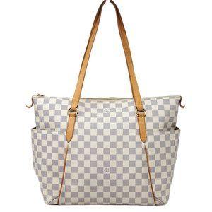 Auth Louis Vuitton Totally MM Damier Azur Tote Bag